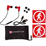 Wireless Earbuds, Tags 2.0 by Outdoor Tech, Bluetooth Sweatproof In-Ear Headphones - Red