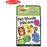 "Melissa & Doug On-the-Go Felt Friends Craft Activity Set, Step-By-Step Illustrated Instructions, Easy to Store, 188 Felt Stickers, 10"""" H x 6"""" W x 0.4"""" L"