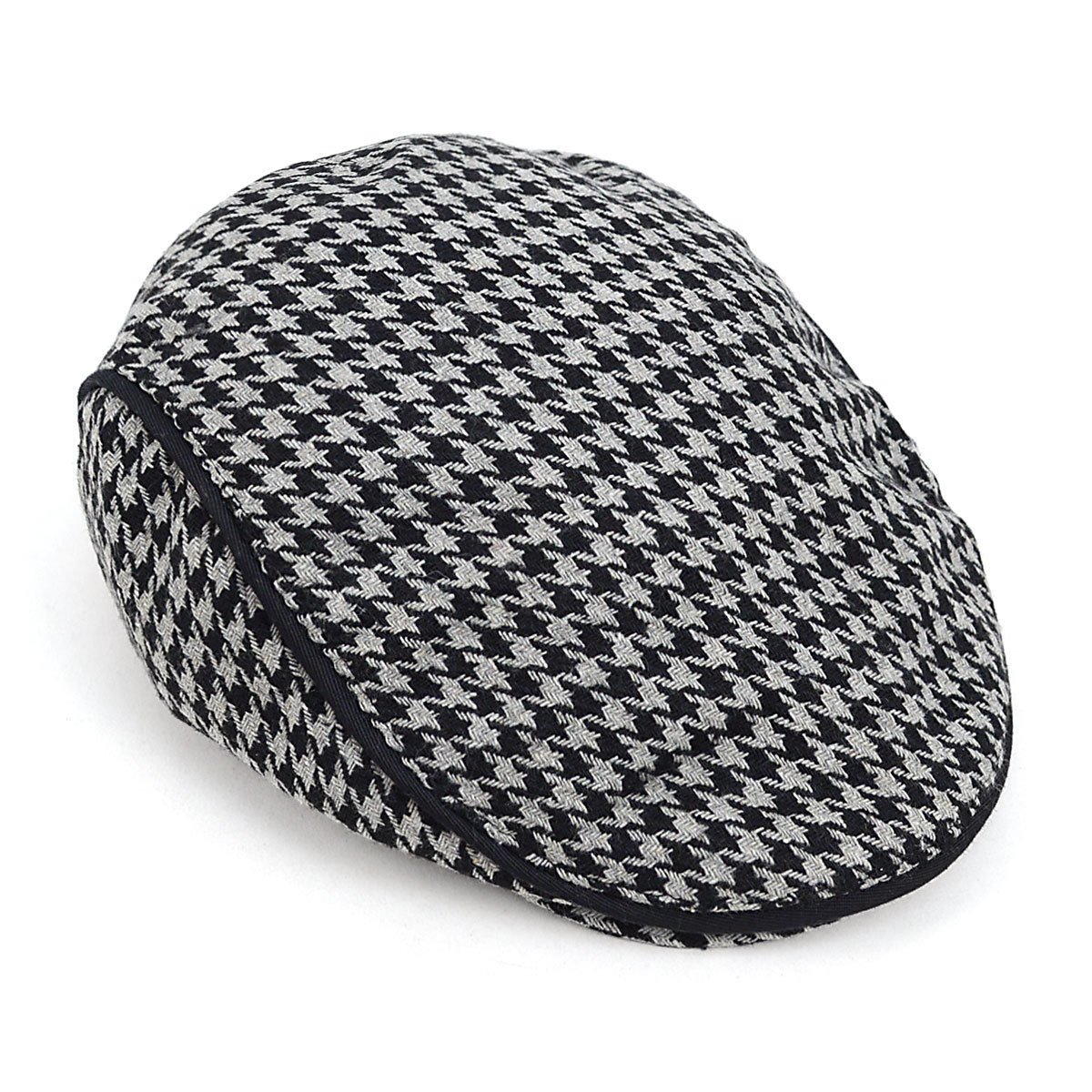Fall-Winter Houndstooth Pattern Newsboy Ivy Hat at Amazon Men s Clothing  store  5add62af85b4
