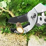 GRÜNTEK Cesoie Potatura professionali TUKANE a incudine forbici da giardino 195 mm, Lama in acciaio giapponese SK5, in alluminio con interno di gomma Soft Touch