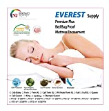 "Everest Supply Premium Mattress Encasement Hotel/RV Twin XL Size 36x80+9"" (fits 9-11"" Depth) 100% Waterproof, Bed Bug Proof, Hypoallergenic Protector, Six Sided Cover, Machine"