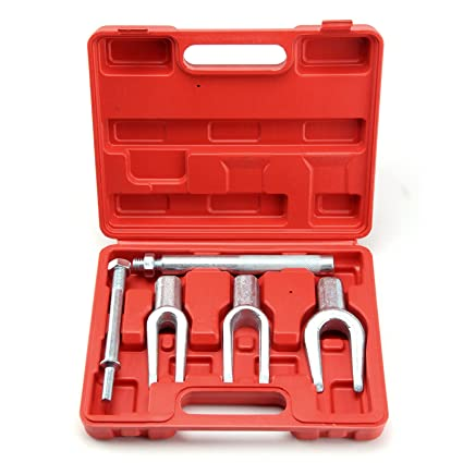 5Pc Tie Rod Ball Joint Pitman Arm Seperator Remover Kit Pickle Fork Set