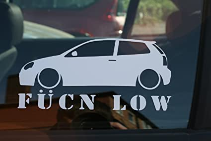 Turnerco Fucn Low Car Sticker - for VW Polo 9n3 Mk7 GTI: Amazon.es ...