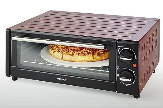 Korona 57000 Horno de pizza, 15 L, 1300 W, color negro/rojo ...