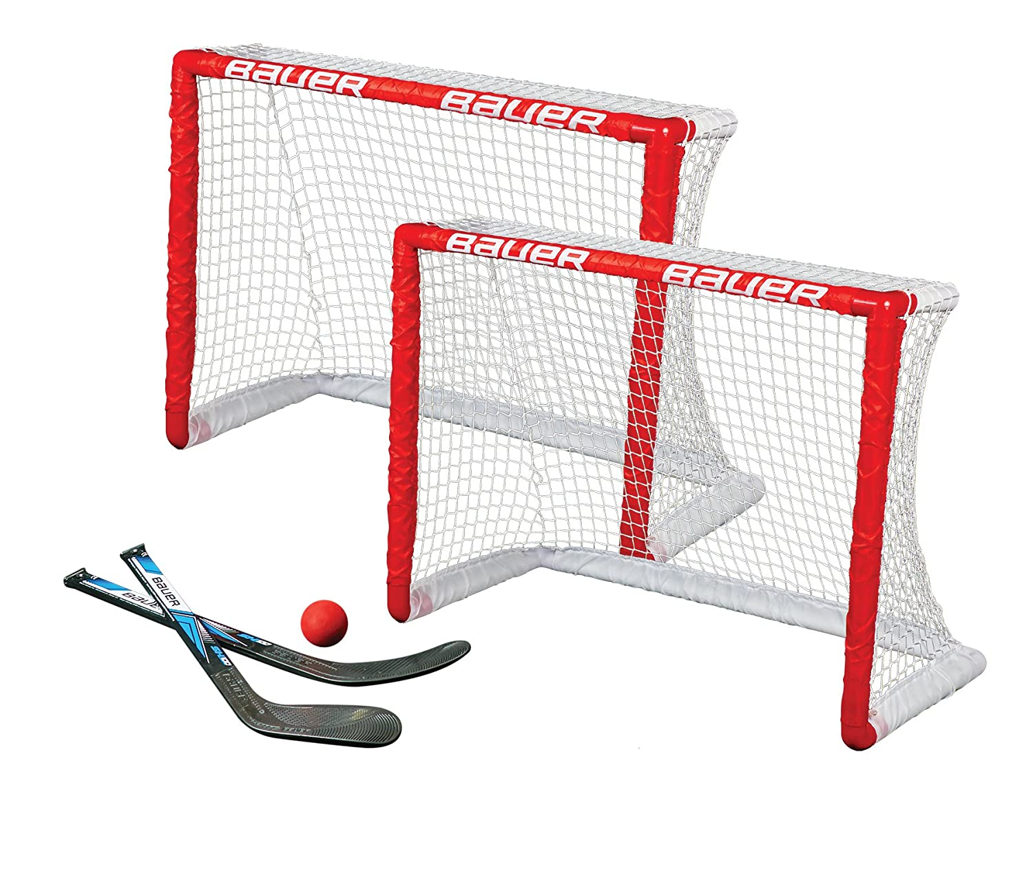 Rosso Bauer Knee Hockey Goal Set Twin Pack