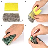 GAINWELL Stainless Steel Chainmail Scrubber Steel