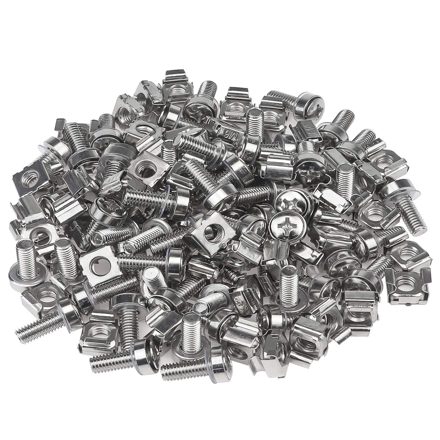 Rack Mount Server Shelves Favordrory Rack Mount Cage Nuts Screws and Washers for Rack Mount Server Cabinet Silver Routers M6 x 20mm