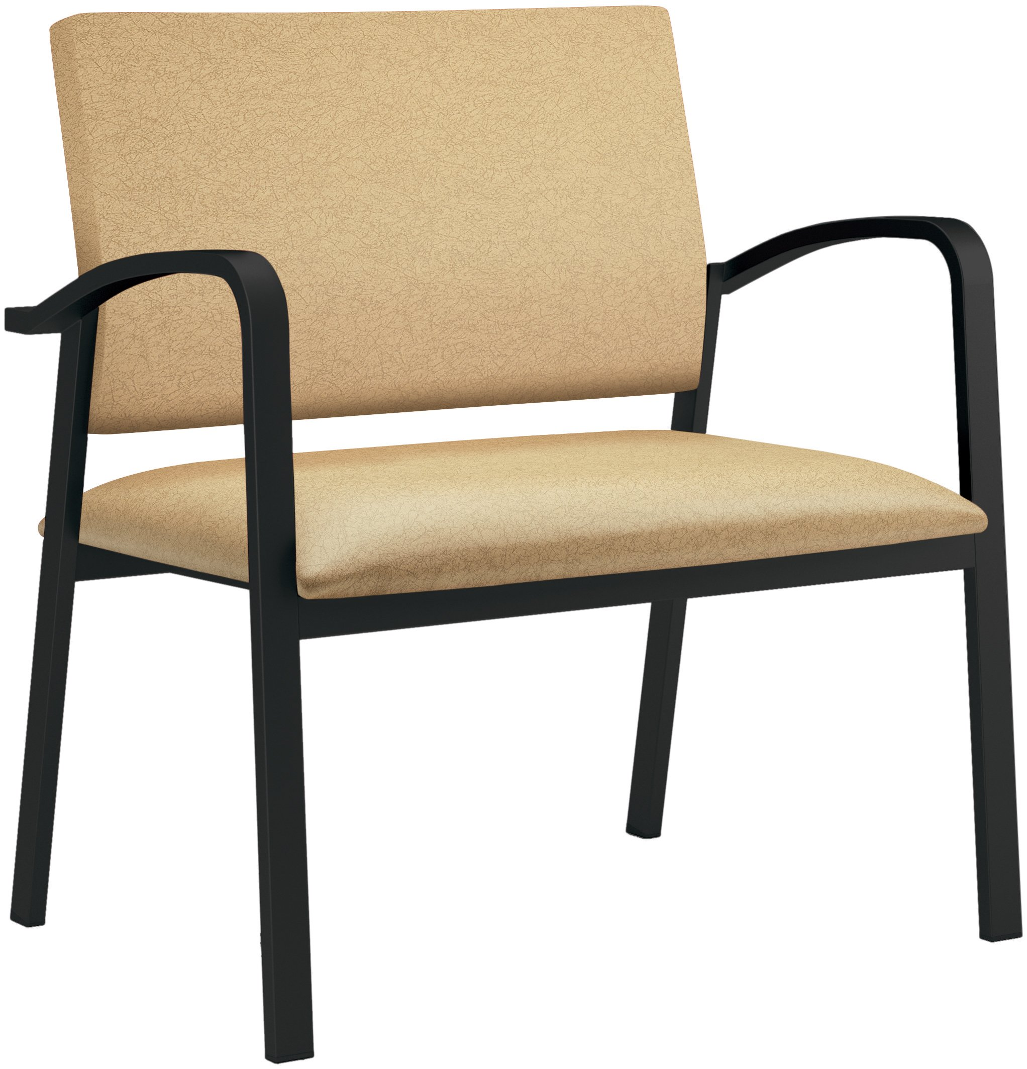 Newport Healthcare Vinyl Bariatric Guest Chair, Renaissance Gypsum, Black