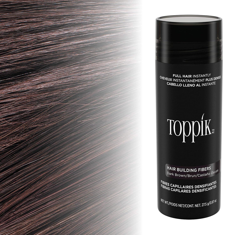 Toppik - Fibras capilares de queratina natural, Castaño oscuro ...