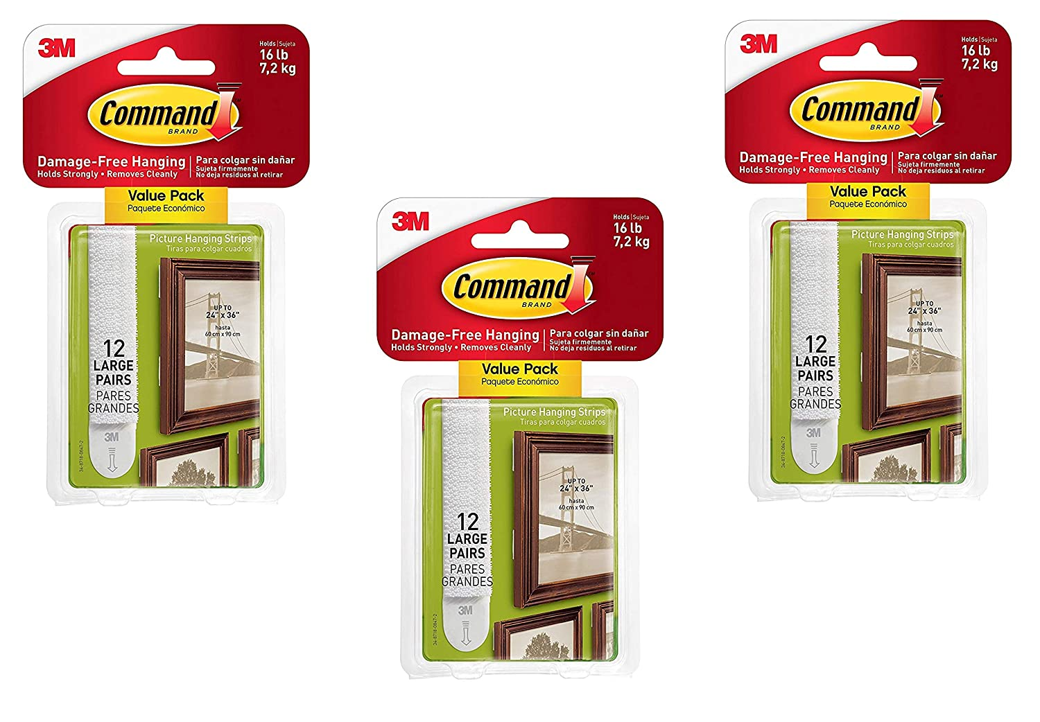 Amazoncom Command Large Picture Hanging Strips White 36 Strip