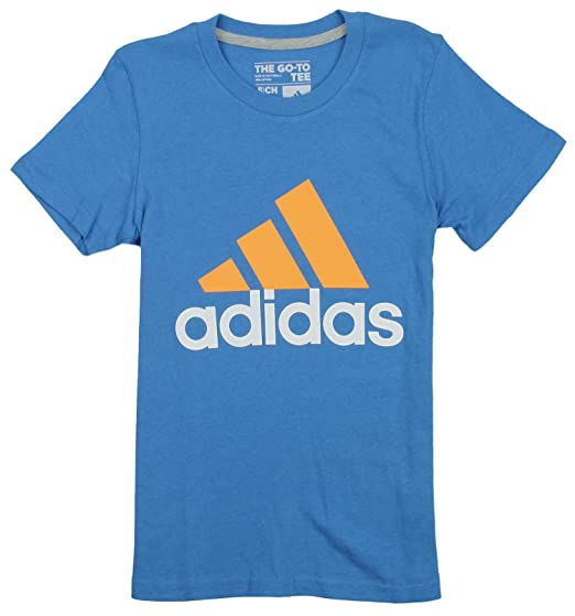Amazon.com  adidas Big Girls Adi Logo Short Sleeve Tee  Clothing 74b1af894