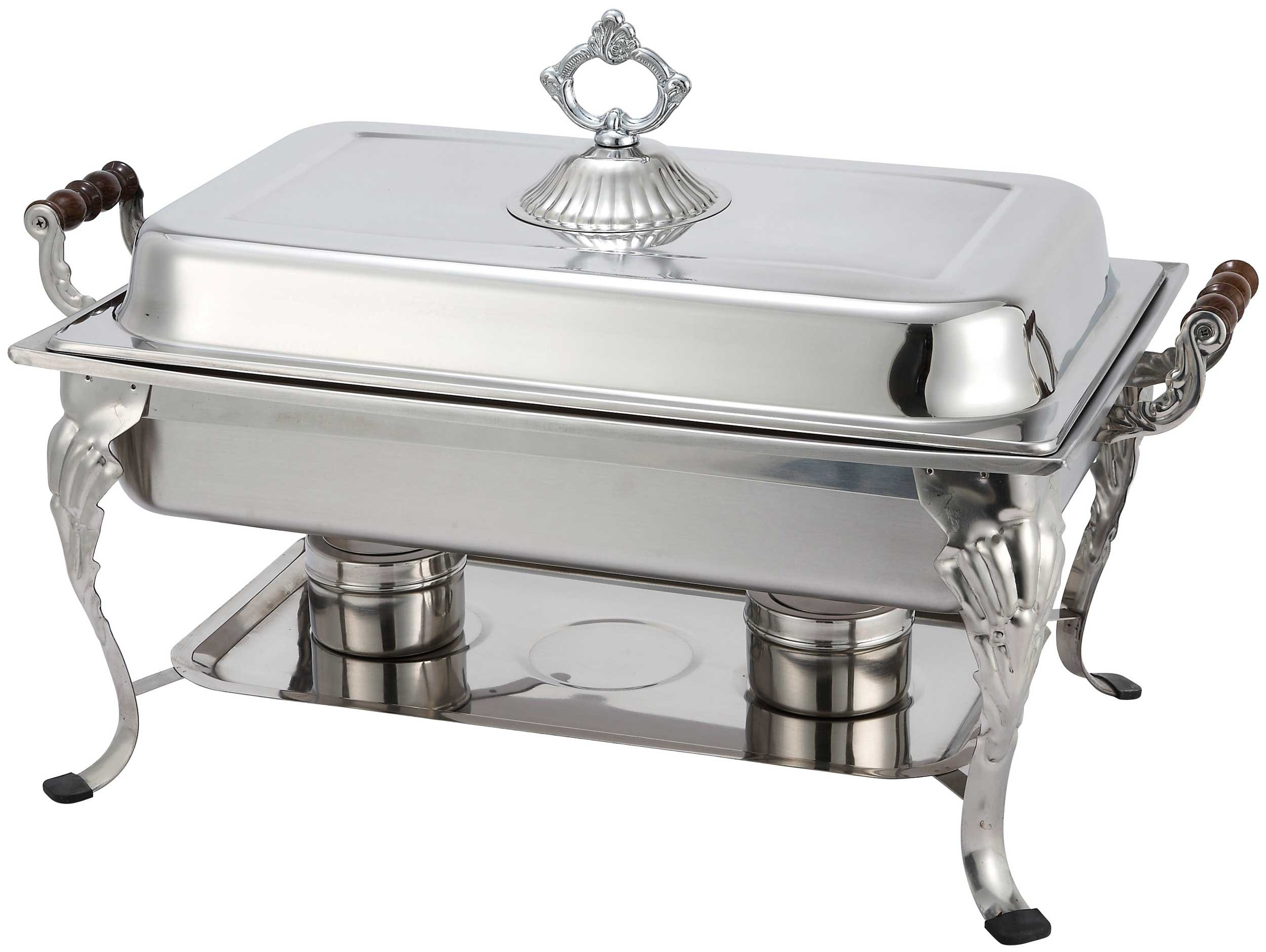 Winco 408-1 Full Rectangular Crown Chafer, 8-Quart by Winco
