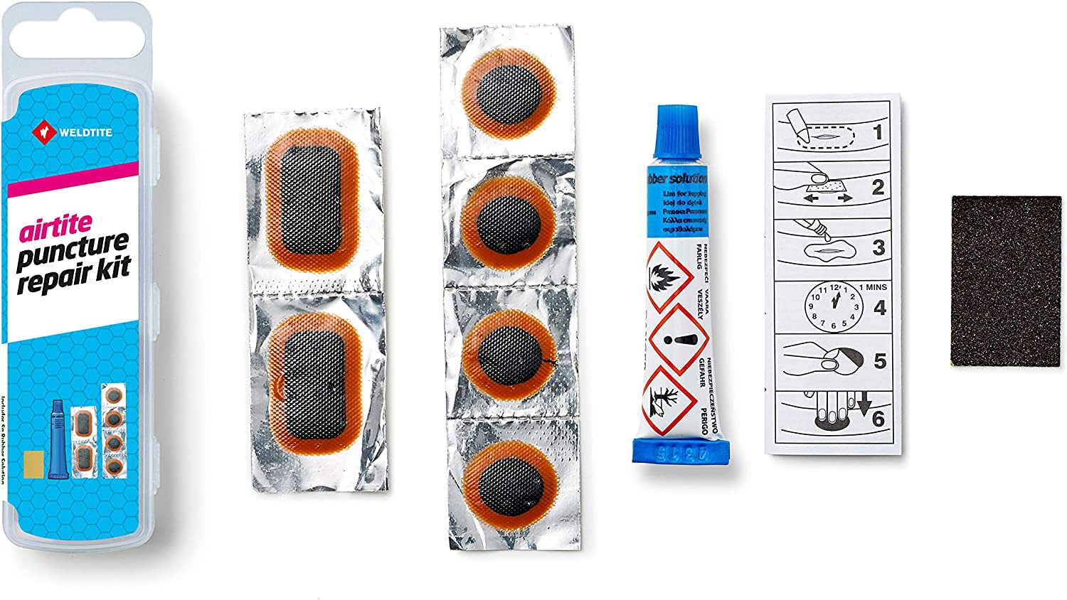 Weldtite Bike Innertube Cycle Puncture Repair Patches Feather Edged Patch Strips
