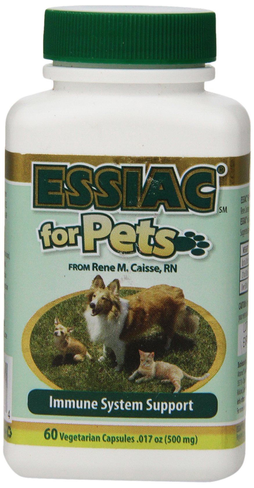 Essiac International Herbal Supplement for Pets, 60 Capsules by Essiac