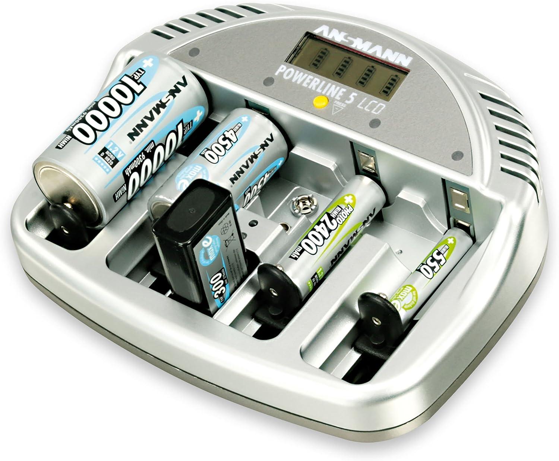 Ansmann 5707083 Powerline 5 Akku Ladegerät Micro Aaa Elektronik