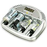 ANSMANN 5707083 Powerline 5 Akku Ladegerät Micro AAA Mignon AA Baby C Mono D 9V Block LCD/LED
