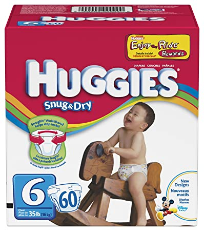 Huggies Snug & Dry Diapers, Size 6, 60 Count
