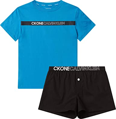 Calvin Klein Woven PJ Set (SS+Short) Juego de Pijama para ...