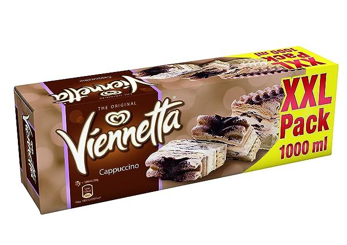 Viennetta Cappuccino XXL - Helado de café y vanilla con capas de chocolate, 500 g