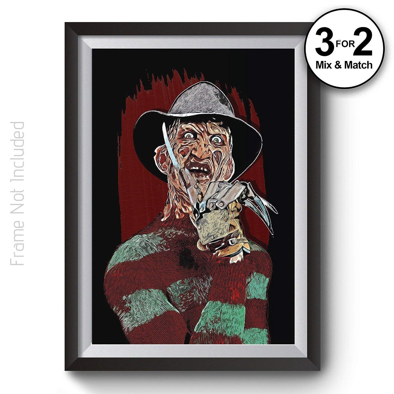 FREDDY KRUEGER NIGHTMARE ON ELM STREET POSTER SCARY MOVIE FILM ART WALL PICTURE