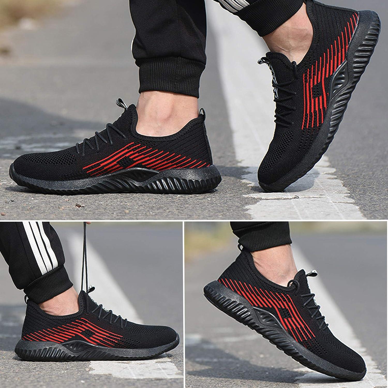 Scarpe Antinfortunistica Uomo Estive Scarpe da Lavoro Donna con Punta in Acciaio Sportive di Sicurezza Leggere