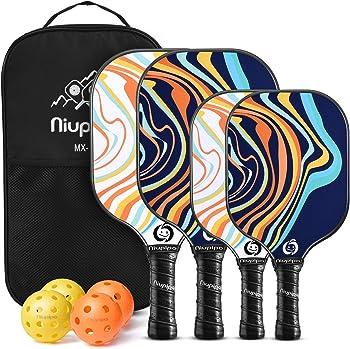 4-Pack Niupipo Store Parent Child Pickleball Set