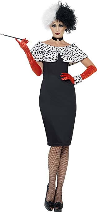 1950s Costumes- Poodle Skirts, Grease, Monroe, Pin Up, I Love Lucy Smiffys Womens Evil Madame Costume $114.57 AT vintagedancer.com