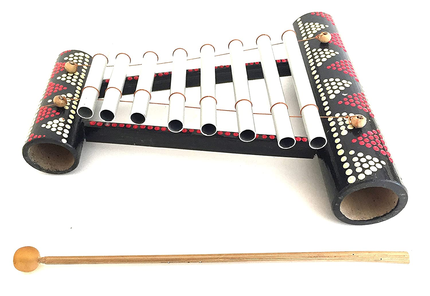 Bamboo Xylophone Energy Meditation Chime Hand Painted Nice Sound - JIVE BRAND