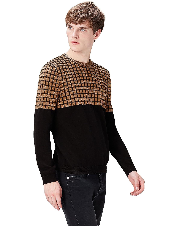 find. Men's Cotton Grid Knit Jumper