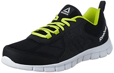 ade9420d0752ea Reebok Men s Sprint Affect Black Gry Yellow White Running Shoes - 6 ...