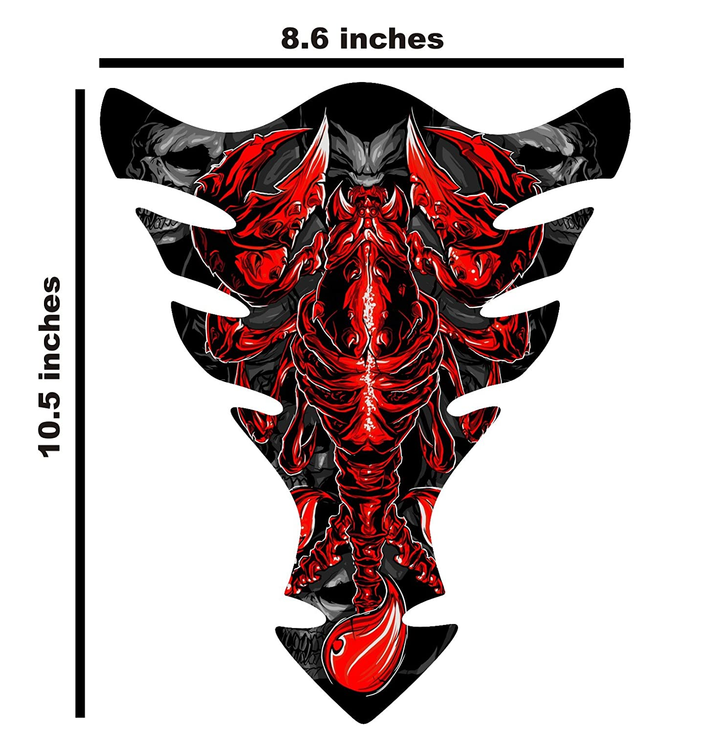 10.5 tall x 8.6 wide Can Am Can-AM Spyder F3 Scorpion Red Motorcycle Tank Pad Protector Universal Tank Pad