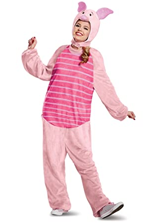 04dc857bf837 DISGUISE LIMITED Winnie the Pooh Piglet Deluxe Adult Fancy Dress Costume  Medium Large