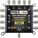 Digital Multischalter 5 in 8 Multiswitch 5/8 -stromsparend mit ZERO-Watt Standby-Funktion - eMS 58RPQ Quad-LNB geeignet