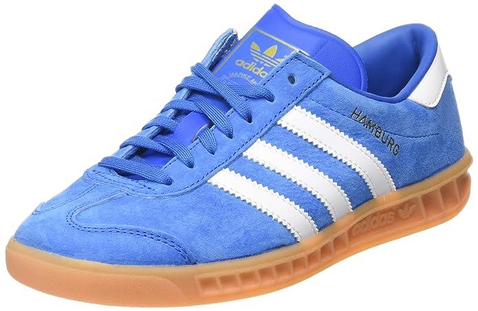 Adidas Hamburg Sneaker Herren blau (Bluebird) mit weißen Streifen