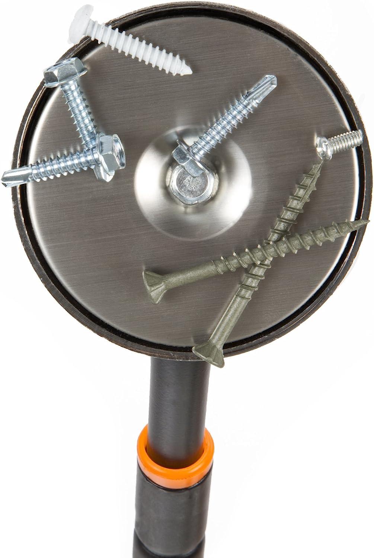 Magnet to Pickup Nails, Screws, and Metal Scraps 40 Inch Orange Pull Capacity