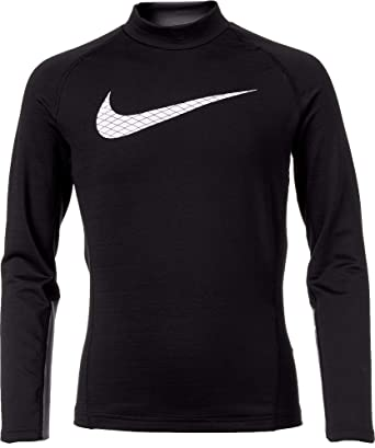 eee31687 Amazon.com: NIKE Boy's Dri-FIT Mock Neck Compression Shirt: Clothing