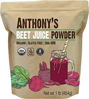 product image for Anthony's Organic Beet Root Juice Powder, 1 lb, Gluten Free, Non GMO, Vegan Friendly