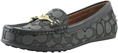 18d08ce84f3 Coach Women s Signature Jacquard Turn-Lock Greenwich Driver Slip-On Loafers  Shoes FG1887 (