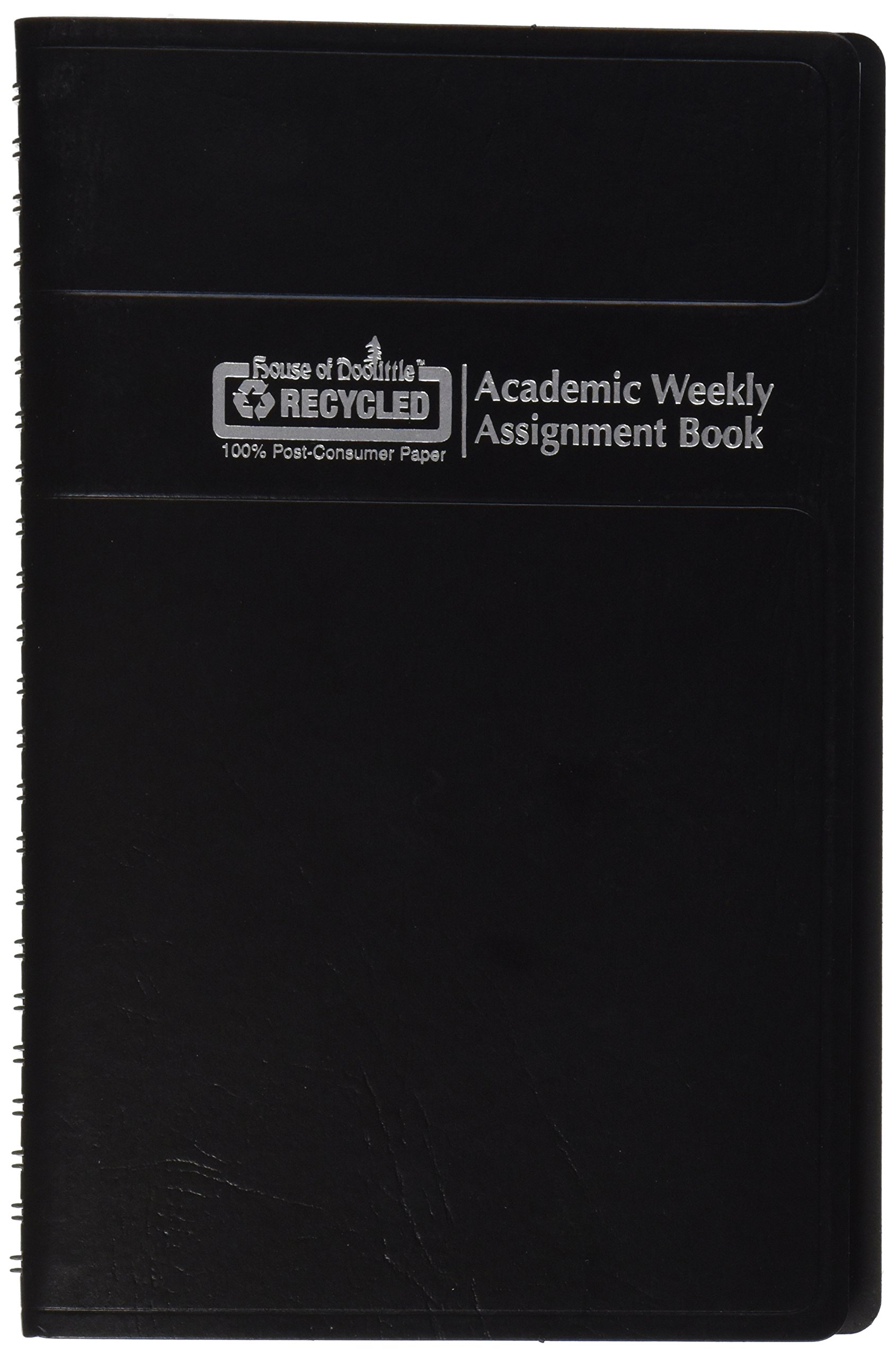 House of Doolittle 2015-2016 Academic Year Weekly Planner Assignment Book, Black Cover, 5 x 8 Inches (HOD27502-16)