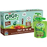GoGo squeeZ Applesauce on the Go, Apple Cinnamon, 3.2 Ounce (12 Pouches), Gluten Free, Vegan Friendly, Healthy Snacks…