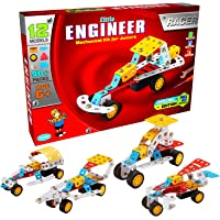 Sartham Little Engineer Mechanical Kit For Juniors - Racer, Age 6+ - Multi Color