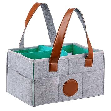 Organizador de pañales para bebé, pañales de viaje, cesta de guardería, regalos de baby shower para pañales de bebé, juguetes, toallitas, ropa y guardería: ...