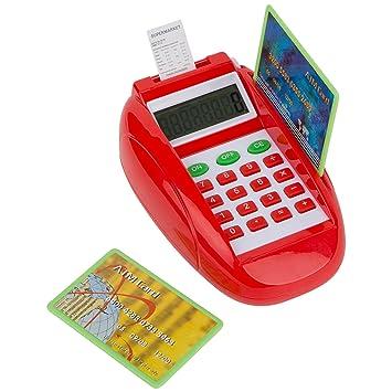 Ultrakidz Johntoy Juguete electrónico, Lector de Tarjetas, Caja registradora para niños para la Tienda, con luz y función de calculadora: Amazon.es: ...