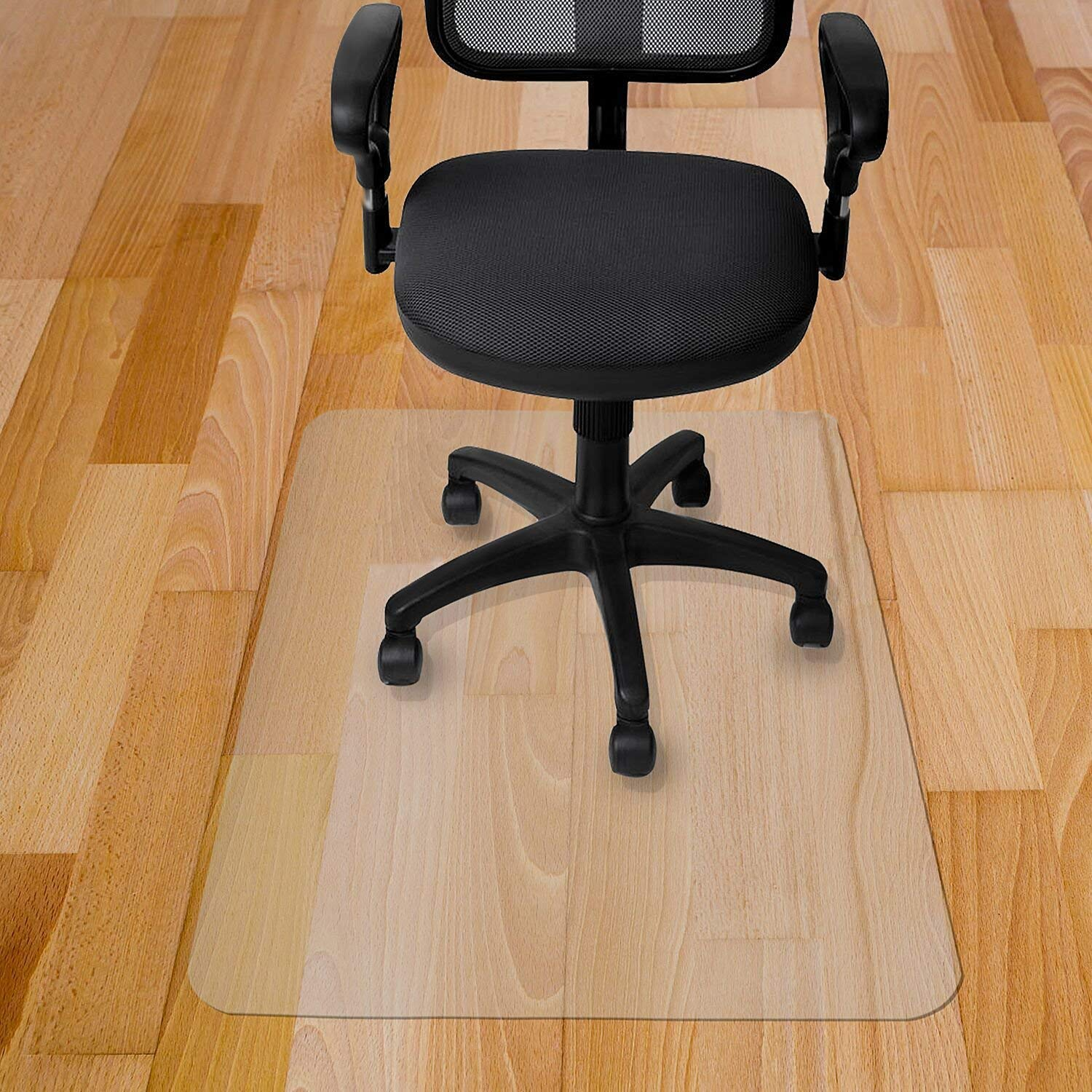 Antallcky Office Chair Mat Clear Rectangle 48''x 40'',Computer/Desk Chair Mat for Hardwood Floor,Anti-Slip,Anti-Scratched,Reduce Noise & Thick Multi-Purpose Floor Protector by Antallcky