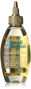 OGX Hydrate & Repair + Argan Oil of Morocco Miracle In-Shower Oil, 4 Ounce