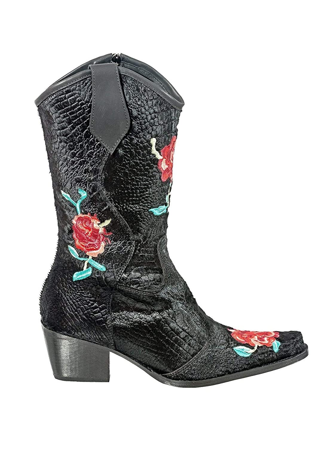 - Rockwell Tharp Black Crocodile pinks Boot