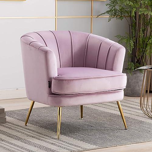 Best living room chair: Artechworks Modern Velvet Barrel Chair Accent Armchair