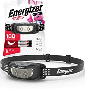 Energizer LED Headlamp, Bright and Durable, Lightweight, Built for Camping, Hiking, Outdoors, Emergency Light, Best Head Lamp for Adults and Kids, Batteries Included