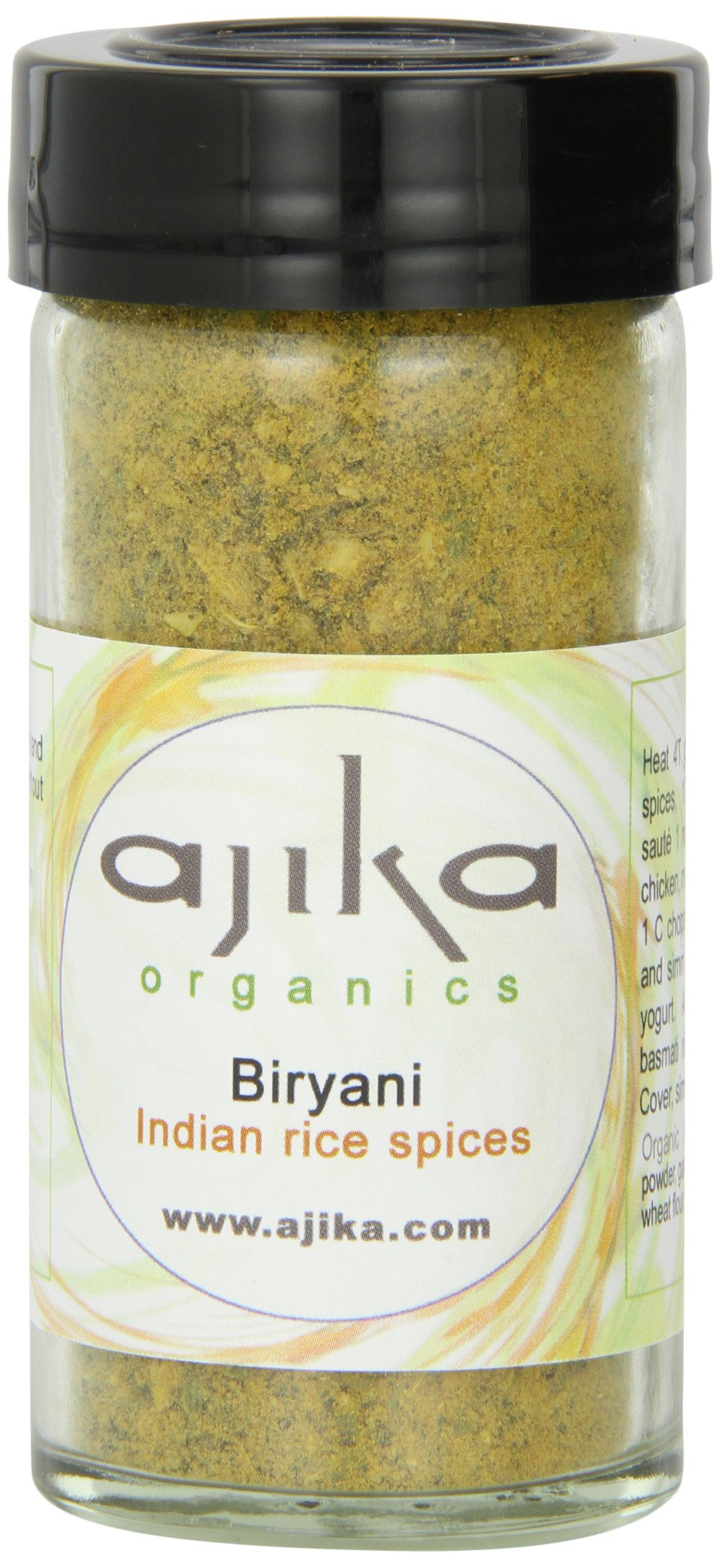 Ajika Organic Biryani, Seasoning for Rice, Poultry & Meat, 2.6-Ounce