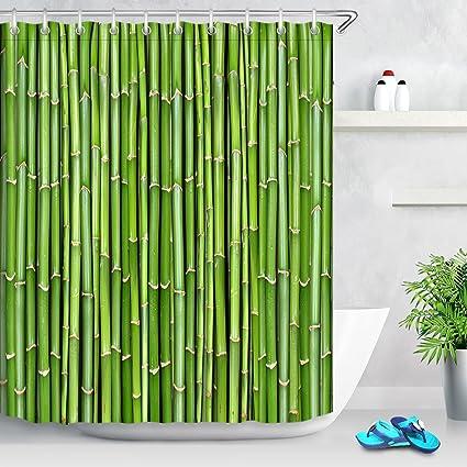 LB Planta Verde Cortina de baño para el baño Sala de Estar Dormitorio Cortinas de Tela
